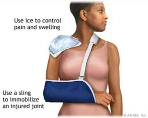 Los Angeles, West Hollywood, Beverly Hills Chiropractor Dr. Nick Campos Shoulder Treatment, Ice
